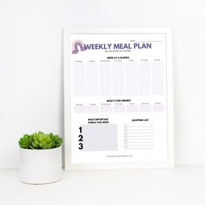 Weekly Meal Plan Gilrs