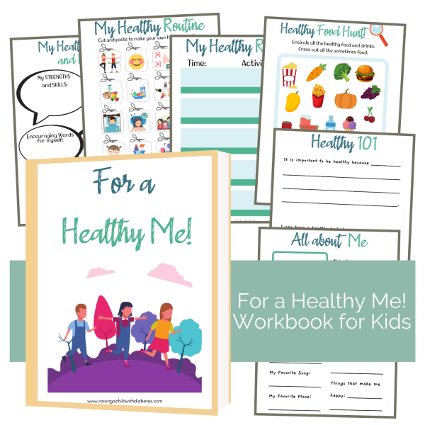 For a Healthy Me! Workbook for Kids - Sales Page - Raising a Child with Diabetes