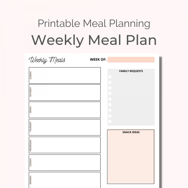weekly meal plan featured image